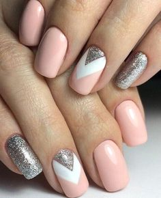 Manicure inspo Www.gelmo fb book an online party f Nageldesign Nail Art Nagellack Nail Polish Nailart Nails Elegant Nail Designs, Elegant Nails, Cute Nail Designs, Short Nail Designs, Elegant Styles, Elegant Chic, Hair And Nails, My Nails, Glitter Nails