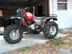 1985 Honda ATC250ES Big Red lifted and snorkled