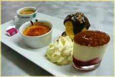 Café gourmand Pourcel - un expresso accompagné de mignardises, de douceurs ou de minis desserts