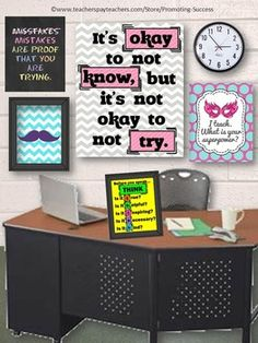 TEACHER PRINTABLES Chevron Classroom Decor: This motivational chevron poster is ready to print for your classroom decor!