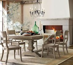 Banks Extending Dining Table, Grey Wash #potterybarn