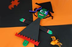 Make a scary witch with this fun and easy Halloween craft!
