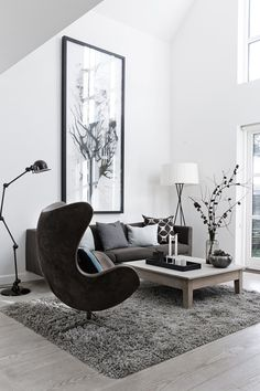 74 Modern Minimalist Master Living Room Interior Design 2018 Modern living room Cozy living room Home decor ideas living room Living room decor apartment Sectional living room Living room design A Budget Interior Design Minimalist, Home Interior Design, Monochrome Interior, Interior Ideas, Modern Design, Interior Styling, French Interior, Interior Photo, Contemporary Interior