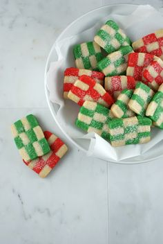 Holiday Checkerboard Cookies from @Lisa | Authentic Suburban Gourmet