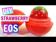 Strawberry eos no beeswax! Ingredients: Crayons Vaseline A candle to melt the cr… - Obst Beauty Hacks Lips, Diy Beauty, Homemade Beauty, Eos Chapstick, Eos Lip Balm, Lip Balms, Vaseline Lip, Diy Lip Gloss, Baby Lips