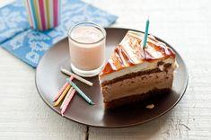 Gâteau Lait Bougies Verre Nourriture