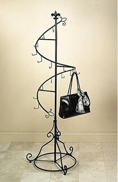 Spiral Purse Tree Retail Rack Display   Pointed Top