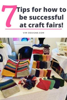 7 simple tips on how to be successful at craft fairs! All of my best tips at one place! Tips on how to prep, what to remember, setting up your booth and much more! By vim-designs.com Craft Fairs, I Am Awesome, Success, Kids Rugs, Patterns, Simple, Tips, Crafts, Design