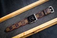 LV Straps cut from Authentic LV Old Bags Custom Made for Apple Watch