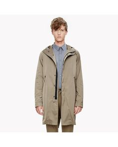 c4113e8a Theory | Natural Cotton Garment Wash Shirt for Men | Lyst Hooded Parka,  Everyday Outfits