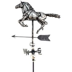 Primus Horse Stainless Steel Weathervane with Garden Stake Weather Vane 5023353162206 Flowery Branch, Eagle In Flight, Equestrian Gifts, Types Of Horses, Weather Vanes, Vampire Bat, Man And Dog, Forest Park, Garden Stakes
