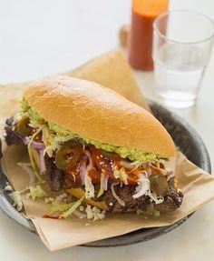 Torta de Carne Asada - Comida Mexicana