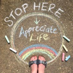 And appreciate life for awhile. That's what my chalk art heart says 💛 I've still not painted my toenails but I have left… Chalk Drawings, Art Drawings, Drawing For Kids, Art For Kids, Chalk Quotes, Chalk Design, Sidewalk Chalk Art, Chalkboard Art, Coffee Chalkboard