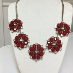 Great gift of flowers that won't die! Red necklace GIFT BOXED TO GIVE  a gift of flowers to Mom that will last!! Or get ready for your special night out! 1️⃣1️⃣ T&J Designs Jewelry Necklaces