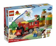 LEGO DUPLO Toy Story The Great Train Chase 5659 by LEGO. $69.99. Build your own train. Contains 39 pieces. Colorful, sturdy set. Includes DUPLO Buzz Lightyear and Woody figures. Also includes DUPLO Jessie figure. From the Manufacturer All aboard for fun and imagination! The train is running out of control! Good thing Woody, Buzz and Jessie are here to save the day! Steer the train through the desert archway, but watch out for the cactus. Here comes Buzz Lighty...