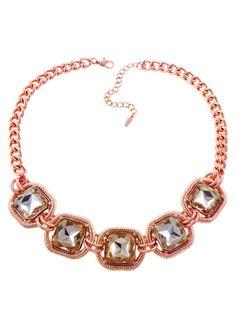 Cable Crystal Strand Necklace (rose gold). ✓ http://baublebar.com/index.php/rewardsref/index/refer/id/14336/