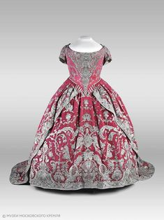 Coronation dress of Catherine I of Russia, 1724 From Moscow Kremlin Museums on Facebook