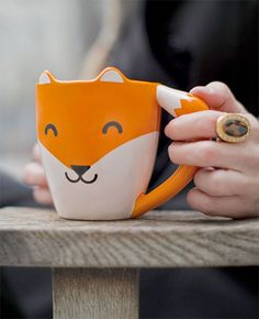 Fox Mug by Thumbs Up Cute Kawaii Shaped Ceramic Tea Coffee Cup Design3000, Cute Cups, Cool Mugs, Tea Mugs, Mug Cup, Coffee Cups, Gadgets, Kawaii, Cool Stuff
