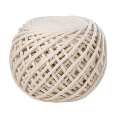 Texelaar ottoman by Christien Meindertsma - ball of yarn pouf