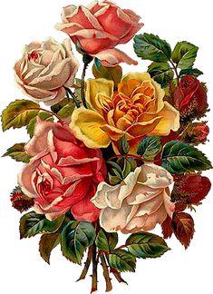 Victorian Die Cut Flowers