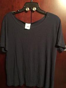 Womens Eileen Fisher Large Short Sleeve Knit Sweater Navy Blue Nice | eBay