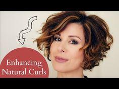 Enhancing Short Naturally Curly Hair - YouTube