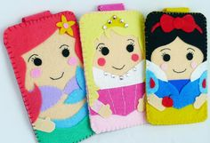 Princess collection Handmade The Little Mermaid disney land iphone, iphone 4S felt cell phone case (FREE SHIPPING). $18.00, via Etsy.
