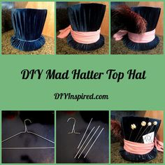 Alice in Wonderland, Mad Hatter's Top Hat costume DIY Mad Hatter Top Hat, Mad Hatter Party, Mad Hatter Tea, Mad Hatters, Mad Hatter Girl, Costume Halloween, Diy Costumes, Halloween Diy, Zombie Costumes