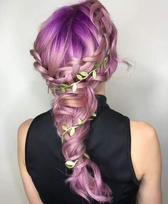 The Best Modern Bridal Hairstyles Ideas for 2019 Brides! Purple Hair, Ombre Hair, Purple Ombre, Pretty Braided Hairstyles, Updo Hairstyle, Hairstyle Ideas, Easy Hairstyles, Hair Ideas, Blond