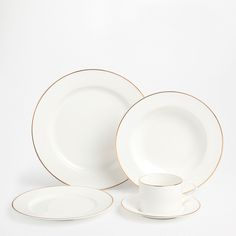 GOLDEN RIM TABLEWARE - Dinnerware - Tableware - Home Collection - SALE | Zara Home United States