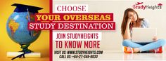 Choose best destination for your higher study at just one click.