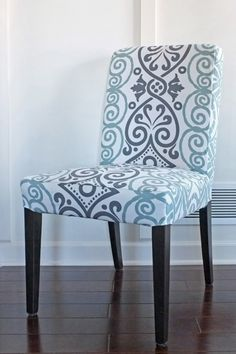 Capital E Easy Parson Chair Slipcover Tutorial With Chevron Fabric