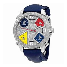 Jacob and Co. Five Time Zone Silver Dial Diamond Mens Watch