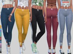The Sims Resource: Play To Win Athletic Leggings 043 by Pinkzombiecupcakes • Sims 4 Downloads