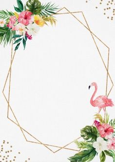(notitle) B-Day Tips Flamingo Party, Flamingo Birthday, Flower Background Wallpaper, Framed Wallpaper, Flower Backgrounds, Iphone Wallpaper, Motif Floral, Floral Border, Invitation Background