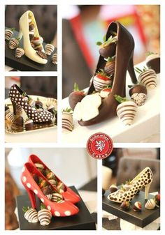 Two things I love combined- shoes and chocolate. I Love Chocolate, Chocolate Heaven, Chocolate Art, Chocolate Gifts, Chocolate Molds, Paletas Chocolate, Shoe Cupcakes, Candy Cakes, Dream Cake