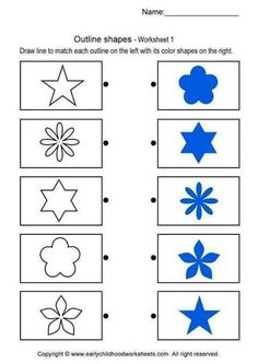 Visual discrimination - star shapes, other simpler geometric shapes available… Math For Kids, Lessons For Kids, Fun Math, Maths, Math Workbook, Kids Math Worksheets, Montessori Math, Preschool Activities, Printable Brain Teasers
