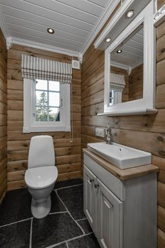 Recent powder room reno ideas only in popi home design Cabin Homes, Log Homes, Home Design, Log Cabin Bathrooms, Rustic Bathroom Vanities, Rustic Vanity, Cabin Interiors, House Plans, House Ideas