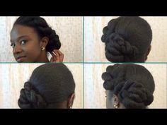 Elegant twisted updo for natural hair