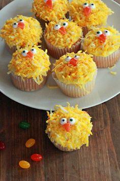 Ostern Küken Cupcakes