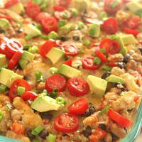 Southwest Chicken Quinoa Bake