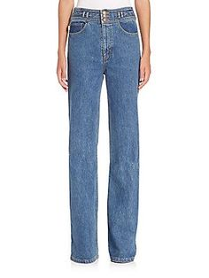 Marc Jacobs Star High-Rise Wide-Leg Jeans - Bright Blue - Size 2