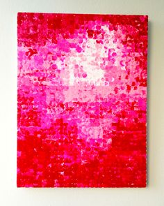 Super easy DIY art project - make your own pixelated painting!  Project by sketchystyles.com  #DIY #art #painting