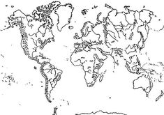 Mountains World Map Coloring Page : Kids Play Color