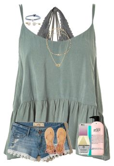 """""""sorry for being so inactive... """" by preppy-renee ❤ liked on Polyvore featuring Hollister Co., Topshop, Tory Burch, Ela Rae, Kate Spade, philosophy, tarte, Lokai, Kendra Scott and American Eagle Outfitters"""