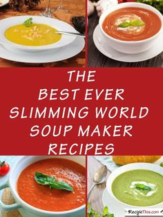 The Best Ever Slimming World Recipes. All the best soup maker recipes for The Best Ever Slimming World Recipes. All the best soup maker recipes for and many and all in one place together. Slimming World Soup Recipes, Slimming World Fakeaway, Slimming World Diet, Slimming Eats, Slow Cooker Soup, Slow Cooker Recipes, Fodmap Recipes, Healthy Recipes, Healthy Soup