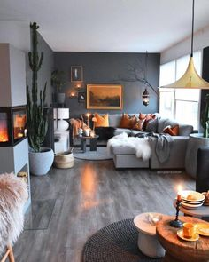 47 inspiring modern living room decor ideas 4 - 47 inspiring ideas for a . - 47 inspiring modern living room decor ideas 4 – 47 Inspiring ideas for a modern living room - Living Room Modern, Living Room Interior, Home Living Room, Apartment Living, Living Room Designs, Small Living, Interior Livingroom, Grey Livingroom Decor, Cozy Living Room Warm