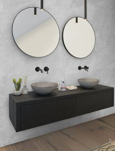 Bathroom Niche: Learn How To Choose And See Ideas With Photos - Home Fashion Trend Bathroom Inspiration, Bathroom Mirror, Master Bathroom, Industrial Style Bathroom, Bathroom Design Inspiration, Round Mirror Bathroom, Bathroom Pictures, Bathroom, Modern Bathroom Design