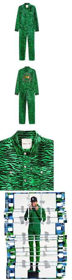 Coveralls and Jumpsuits 178962: New Handm Kenzo Green Tiger Stripe Romper Jumpsuit Boiler Suit Chance The Rapper S -> BUY IT NOW ONLY: $250 on eBay!