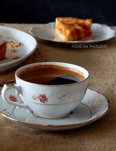 Food for thought: Πάστα φλώρα Greek Cookies, Tea Cups, Flora, Pasta, Cooking, Tableware, Sweet, Cakes, Coffee